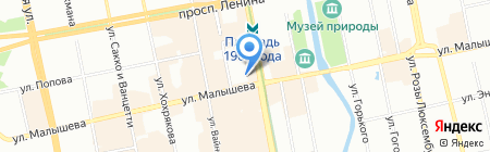 Кейтеринбург на карте Екатеринбурга