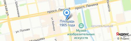 Банкомат АКБ Связь-Банк на карте Екатеринбурга