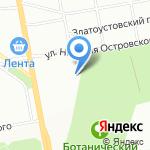 Аквамарин на карте Екатеринбурга