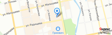 Авантаж на карте Екатеринбурга
