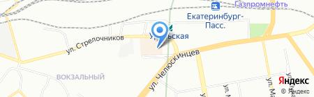Призма на карте Екатеринбурга