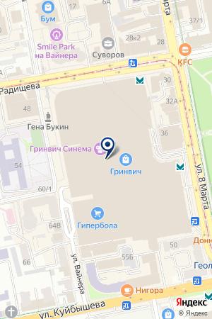 ММЦ Урал на карте Екатеринбурга