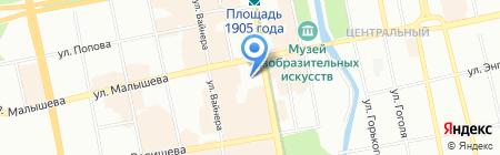 Воздушное отопление на карте Екатеринбурга