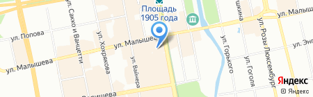 Купон на карте Екатеринбурга