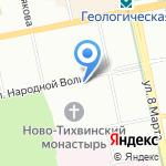 Каравелла на карте Екатеринбурга