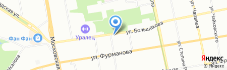 Светофор на карте Екатеринбурга