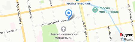 Грин Парк Отель на карте Екатеринбурга