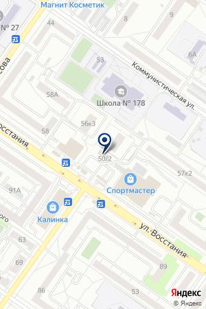 Аргус на карте Екатеринбурга
