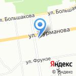 Априори на карте Екатеринбурга