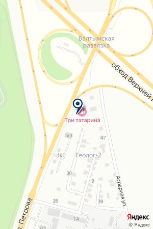 Три татарина на карте Верхней Пышмы
