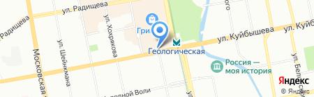 Уралэкострой на карте Екатеринбурга