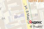 Схема проезда до компании Интеллект в Екатеринбурге