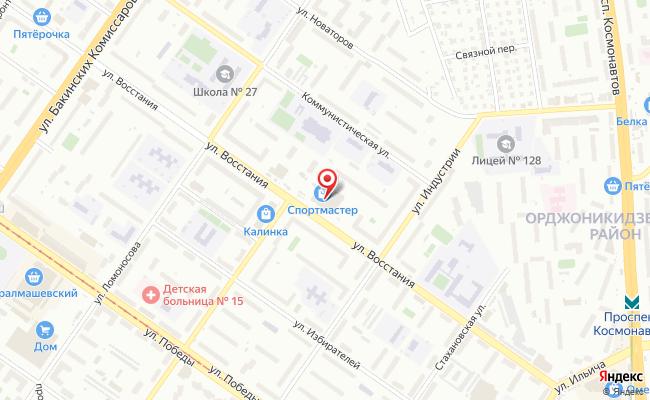 Карта расположения пункта доставки Мир Фото в городе Екатеринбург