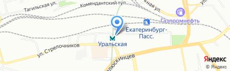 Банкомат Балтийский Банк на карте Екатеринбурга