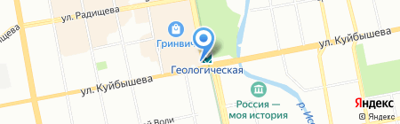 Объектив на карте Екатеринбурга