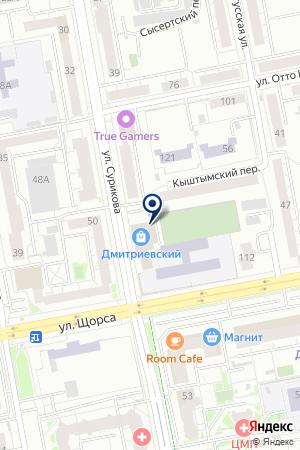 PROFitness на карте Екатеринбурга