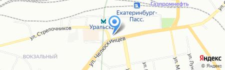 Индюшкин на карте Екатеринбурга