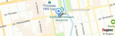 Nogotok на карте Екатеринбурга