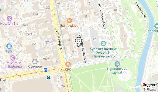 Содействие. Схема проезда в Екатеринбурге