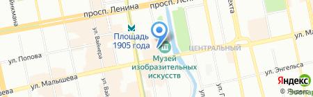 Оргтехцентр на карте Екатеринбурга