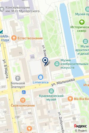 САЛОН КРАСОТЫ ЛЕДИ ПРИМА на карте Екатеринбурга