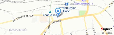 Пятигорские шубы на карте Екатеринбурга