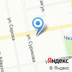 Суширолла на карте Екатеринбурга