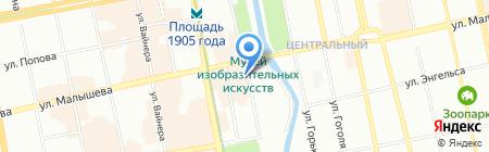 Дружба на карте Екатеринбурга
