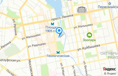 Местоположение на карте пункта техосмотра по адресу г Екатеринбург, ул Добролюбова, стр 12