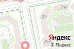 Схема проезда до компании АКАДЕМ-29 в Екатеринбурге