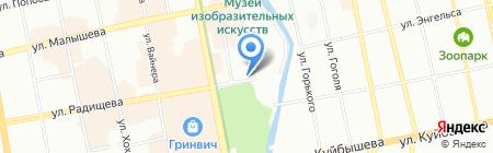 Городские цветы на карте Екатеринбурга