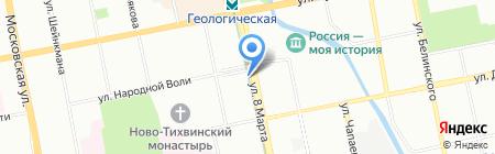 Вилка-Ложка на карте Екатеринбурга