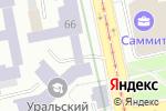 Схема проезда до компании Абажур в Екатеринбурге