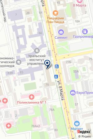 БП-888 на карте Екатеринбурга