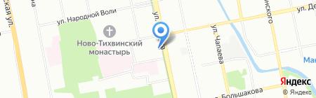 Общежитие Уральский институт на карте Екатеринбурга