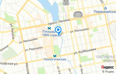 Местоположение на карте пункта техосмотра по адресу г Екатеринбург, ул Добролюбова, стр 7