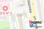 Схема проезда до компании Круиз в Екатеринбурге