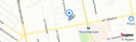 Банкомат БАНК УРАЛСИБ на карте Екатеринбурга