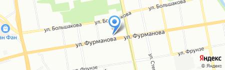 Фурманова 62 на карте Екатеринбурга