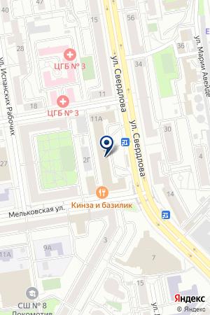 Сауна вЖелезнодорожном районе на карте Екатеринбурга