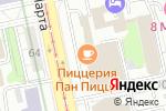 Схема проезда до компании ВУЗ-банк в Екатеринбурге