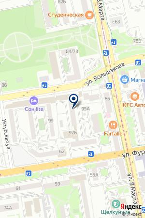 ПРОМБЕЗОПАСНОСТЬ-ЕКАТЕРИНБУРГ на карте Екатеринбурга
