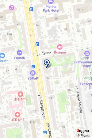 Лагуна на карте Екатеринбурга