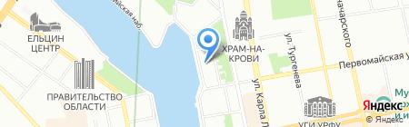 Титан Регион на карте Екатеринбурга