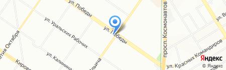 Амели на карте Екатеринбурга