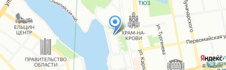 Зелёный бор на карте Екатеринбурга