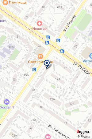 СРЕДНЕУРАЛЬСКИЕ ПУХОВЫЕ ТОВАРЫ на карте Екатеринбурга