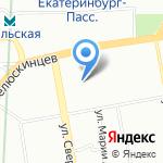 Чайка на карте Екатеринбурга