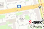 Схема проезда до компании ТУР24 в Екатеринбурге