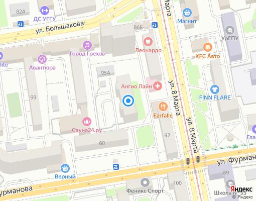 Товарищество собственников жилья «Мартовское» на карте Екатеринбурга